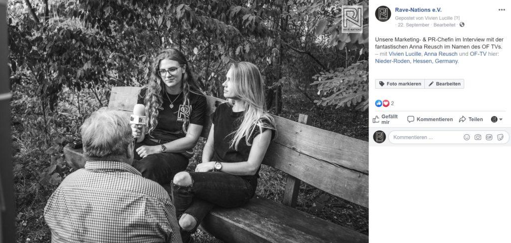 Vivien Berger im Interview mit DJ Anna Reusch mit dem OF TV