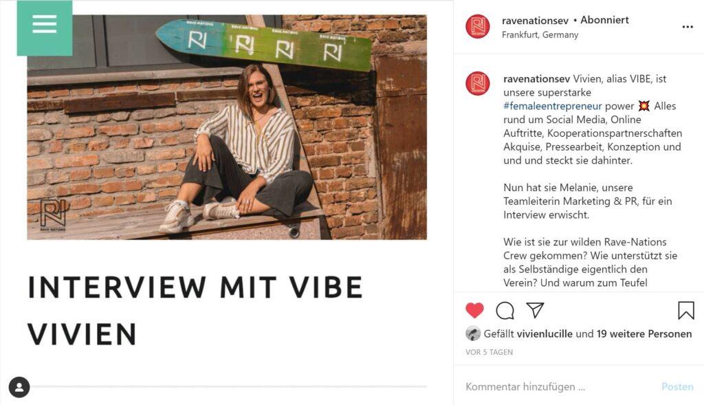 Rave-Nations im Presse Interview mit VIBE Vivien Berger 2020